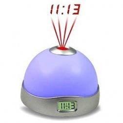 Multi-colour Glowing Electronic Magic Projection Alarm Clock