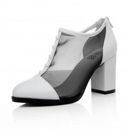 Pointed Toe Square Heel Fashionable Women Heels