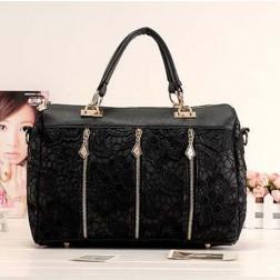 Casual Solid Lace Pattern Women's Handbag