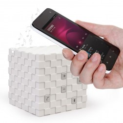 Stylish Cube-Shaped Ultra-Portable Wireless Bluetooth 3.0 Speaker With Built-In Microphone