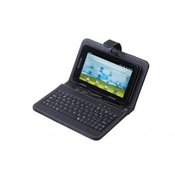 """USB Keyboard & Leather Cover Case for 7"""" Tablets And PDAs"""