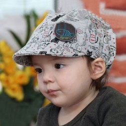 Cotton Cat Pattern Casquette Toddler Baby Cap