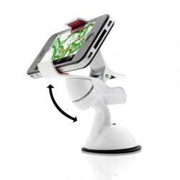 Mobile Phone And GPS Car Holder Cradle With Easy Clip-On Clamps And 360 Degrees Rotational Freedom