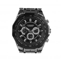 Stylish Men Round Dial Quartz Wristwatch
