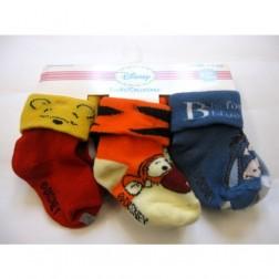 6 Pair Disney Winnie the Pooh Baby Socks 6-12M