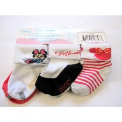 6 Pair Disney's Minnie Mouse Baby Girl Socks 6-12M