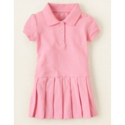 The Children's Place Short Sleeve Pink Polo Dress