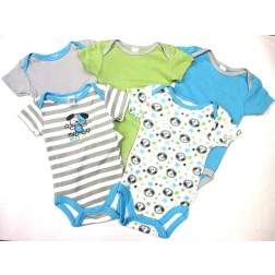 Carter's 5 pc Baby Boy Bodysuits 'My Best Pal' Cute Dog Designs