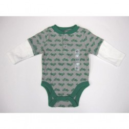 Old Navy Green Motorcycle Long Sleeve Bodysuit - Infant Size 0-3M