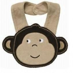 Carter's Smiling Monkey Boy Bib
