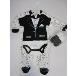 Baby Tuxedo 3 Piece Set For 3-6 Months Old