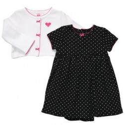 Carter's Baby Girl Dress and Cardigan Sweater Set - 12M