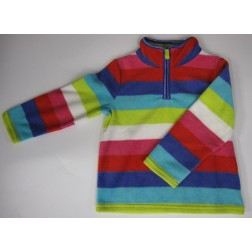 Carter's Striped Multi-Colour Fleece Toddler Pullover Jacket - 3T, 4T