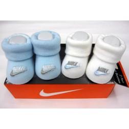 Nike Newborn 0-6m Baby Jordan's Booties Box Set - Blue And White