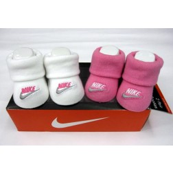 Nike Newborn 0-6m Baby Jordan's Booties Box Set - Pink And White