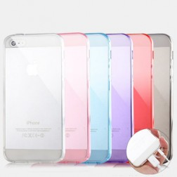 Ultra Clear Silicone Case for iPhone 5/5s and iPhone 4/4s