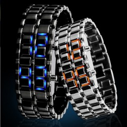 Trendy Metallic Creative LED Watch With 30M Water Resistant