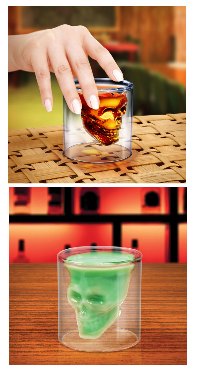 Pirate Skull Cup With Cocktails