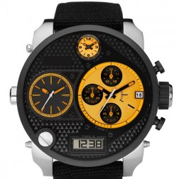 Sharp Oversized Men's Fashion Watch With Silicone Wrist Band