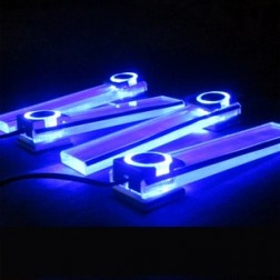 Exotic And Romantic Interior Car LED Lights With Changing Colour, 4Pcs