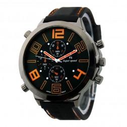 Korean Version of the V6 Silicone Band Big Dial Quartz Watch
