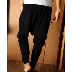 Men's Fashion Cotton-Polyester Loose Harem Pants