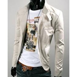 Slim Single Breasted Lapel Collar Mens Jacket