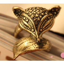 Cute Retro Fox Personalized Ring