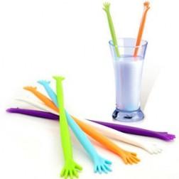 5 Pcs Helping Hands Plastic Stir Rods