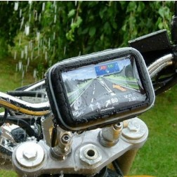 Universal Waterproof Case and GPS or Phone Mount for Motorcycle, Bike, Scooter, ATV, Golf Cart, etc.