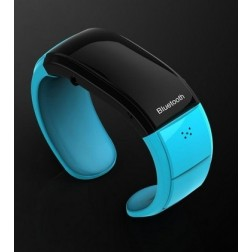 Wireless Bluetooth 2.1 Bracelet Watch With Call And Music Playback Support