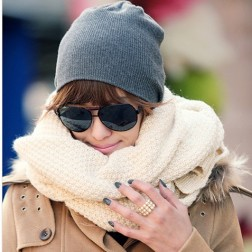 Fashion Solid Wool Womens Long Scarf