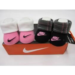 Nike Newborn 0-6m Baby Jordan's Booties Box Set - Pink And Black