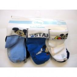 6 Pair Disney's Mickey Mouse Baby Boy Socks 6-12M