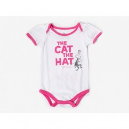 Dr. Seuss 'The Cat in the Hat' Short Sleeve Girl Onepiece - Infant Size 3M