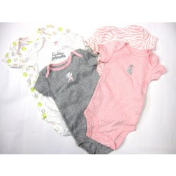 Set of 5 Carter's Baby Girl Bodysuits - Size 6M