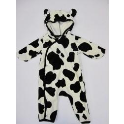 Gap Fleece Infant Bodysuit Cow Design with Spirit Hood - 0-3M, 6-12M