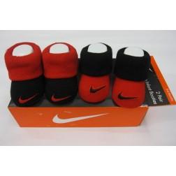 Nike Newborn 0-6m Baby Jordan's Booties Box Set - Red And Black
