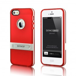 Apple iPhone 5/5s Silicone Mobile Phone Case with Stand and Bumper