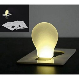White Mini Pocket Credit Card LED Light