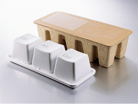 Keyboard cups with packaging