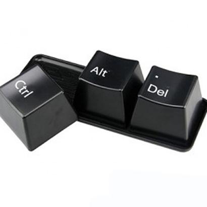 Black keyboard cups