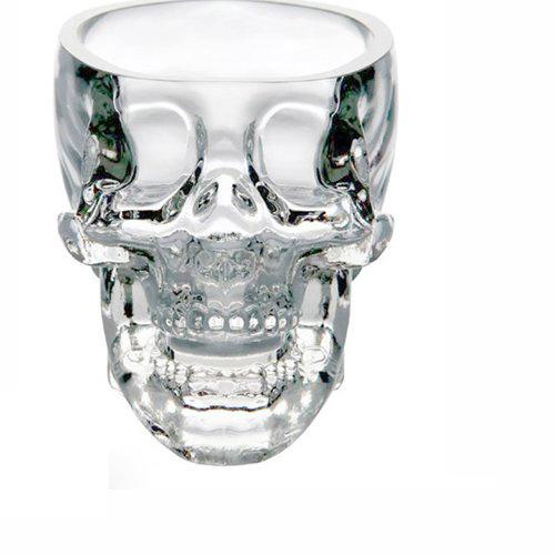 Skull mug close up