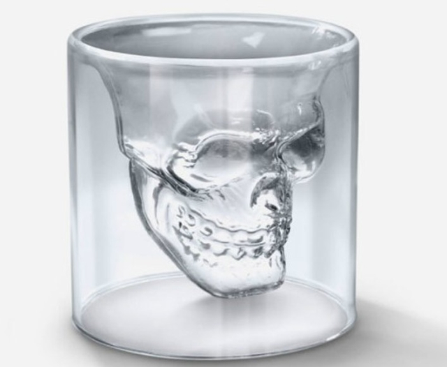 Pirate Skull Cup Close Up